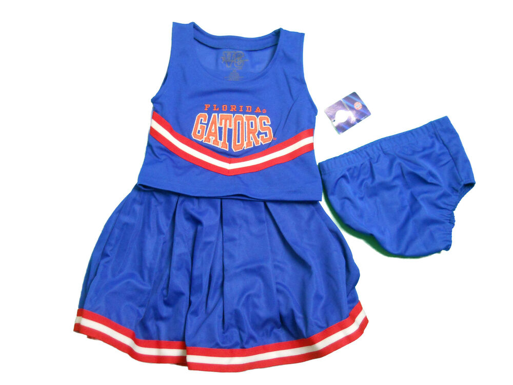 Florida Gators 3 Piece Toddler Cheerleader Outfit New Ebay