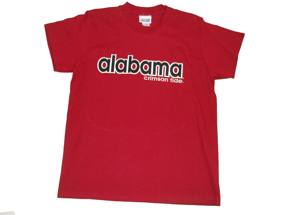 Alabama crimson tide youth red embroidered t shirt new ebay for Alabama roll tide t shirts