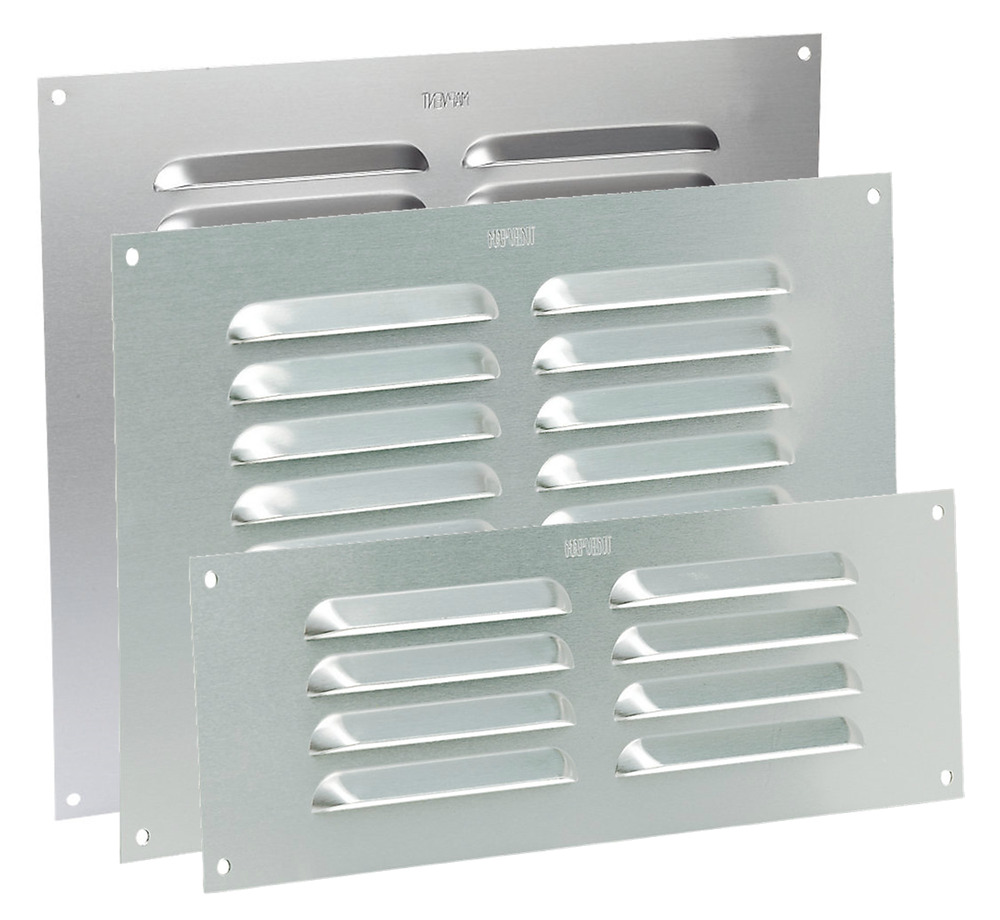 Louvre air vent aluminium silver louvered ventilation for Furniture covers air vent