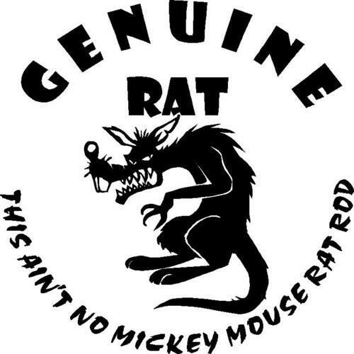 This Ain T No Mickey Mouse Rat Rod Large Decal Sticker You