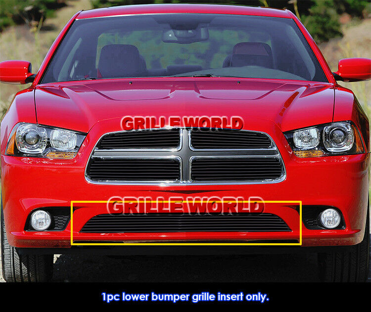 for 2011 2014 dodge charger black bumper billet grille. Black Bedroom Furniture Sets. Home Design Ideas