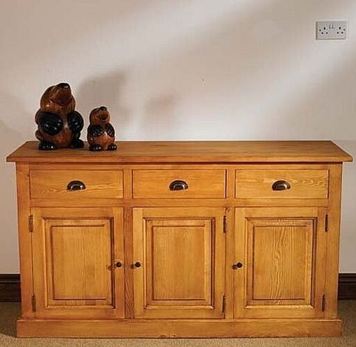solid waxed pine furniture dining living room sideboard ebay