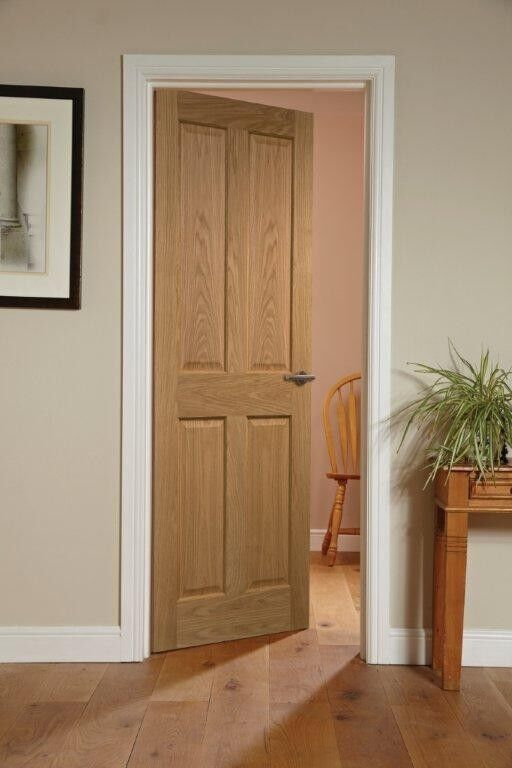 Canterbury 4 Panel Oak Veneered Interior Door Ebay