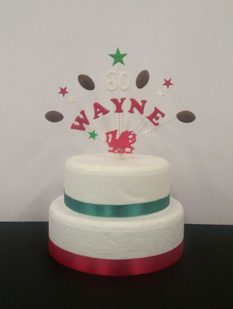 Details About Rugby Personalised Birthday Cake Topper Decoration Any Team Name Age
