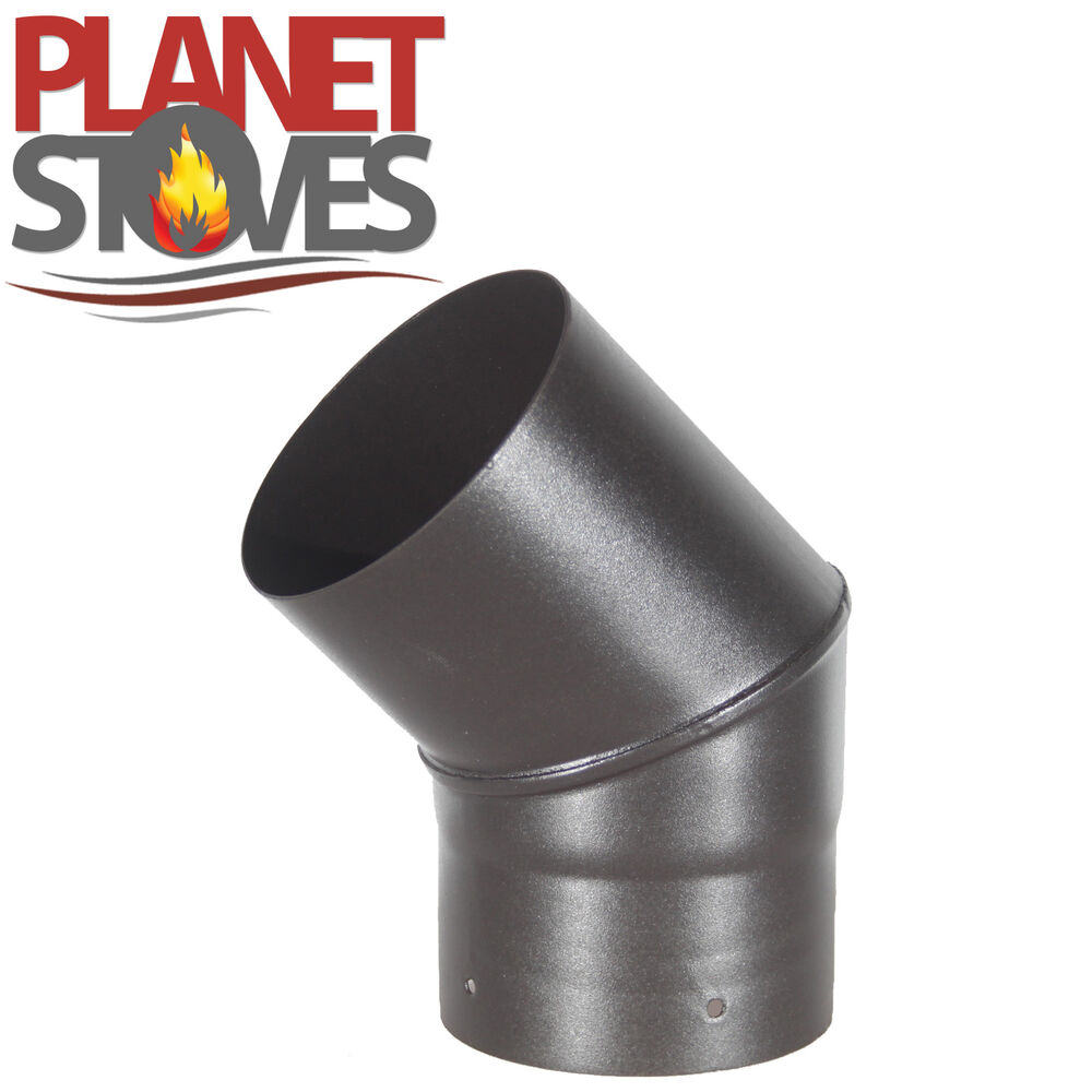 45 Degree Elbow Vitreous Enamelled Multifuel Stove Flue