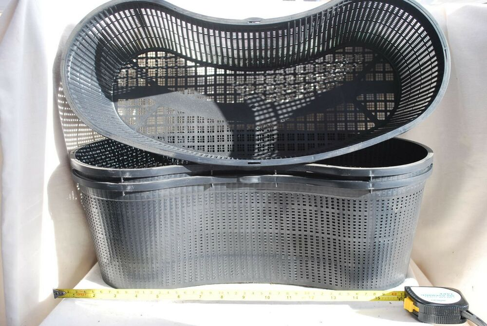 3 x kidney shape pond planting basket koi fish aquatic for Live fish basket