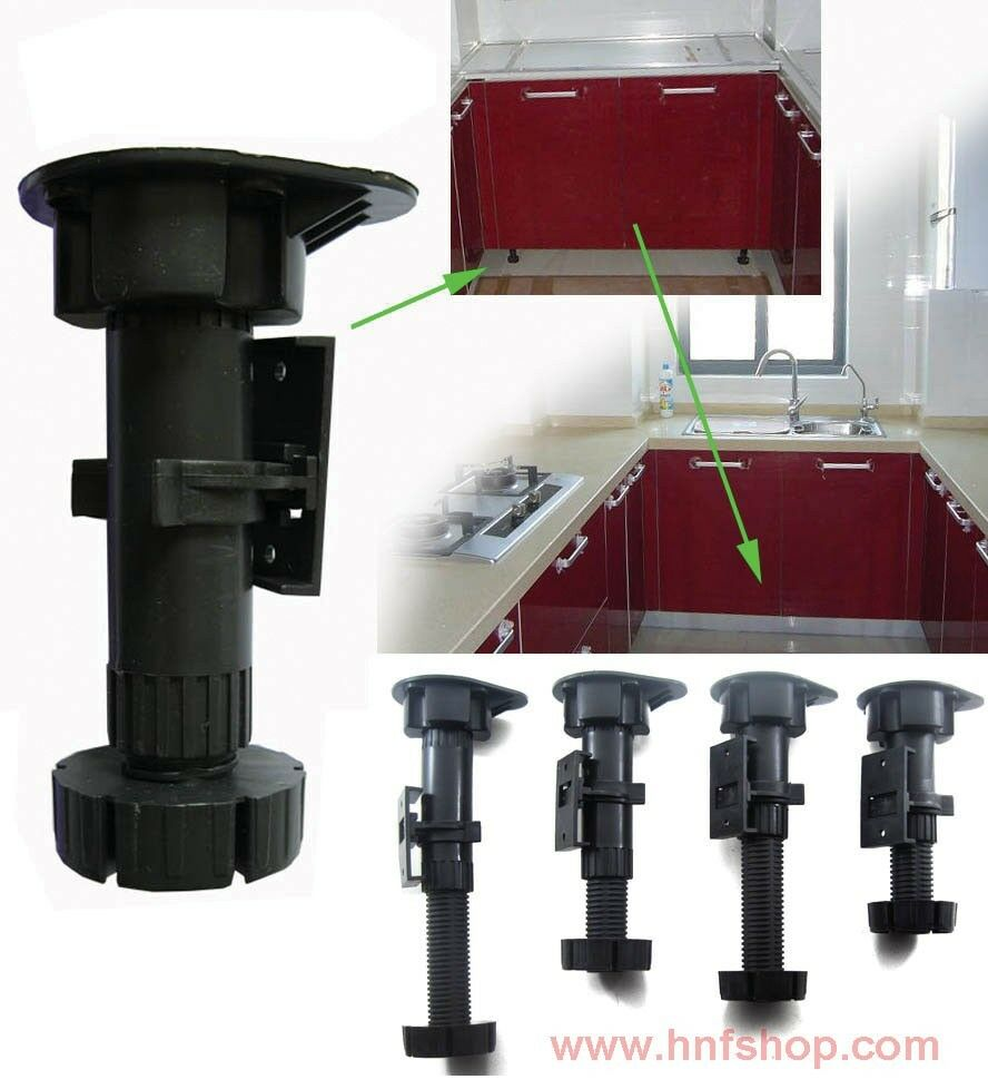 Adjustable Height Plastic Cabinet / Cupboard Leg /foot For Kitchen/Bath Room