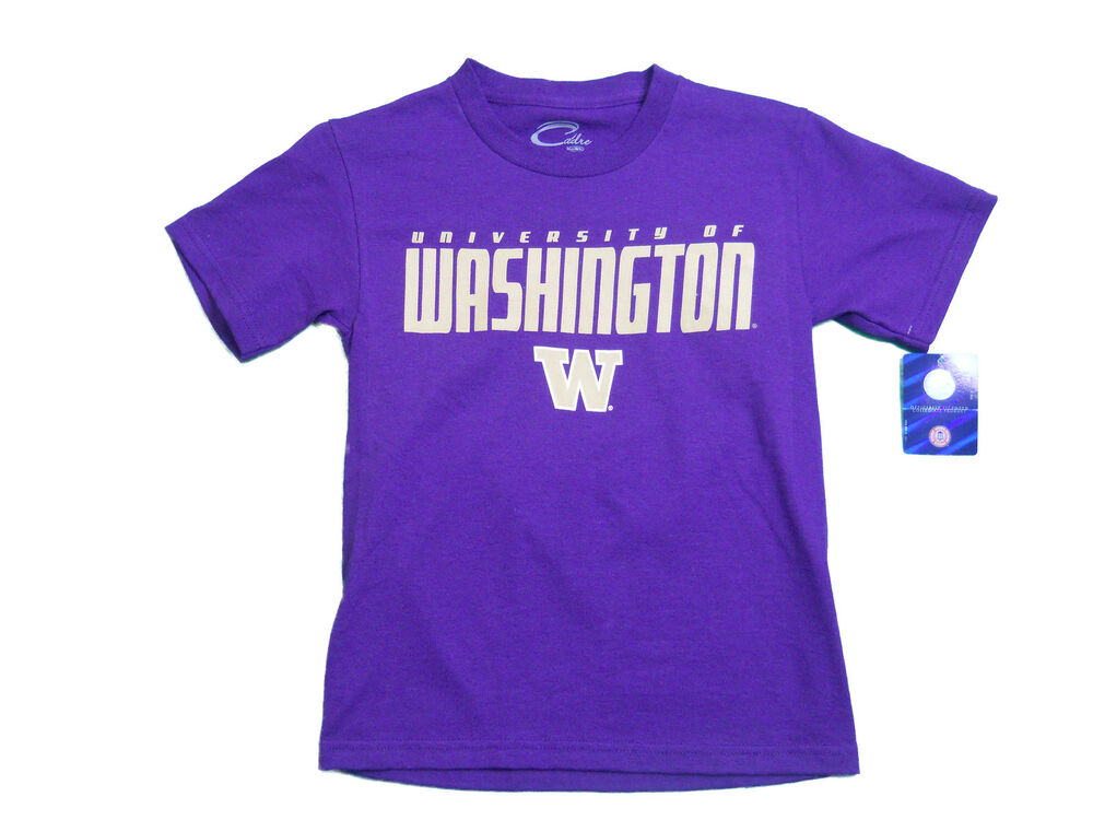Washington Huskies Youth Purple Front Back Logo T Shirt