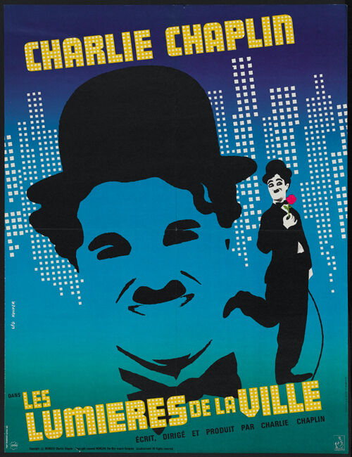 City Lights (1931) Charlie Chaplin movie poster print 4 | eBay