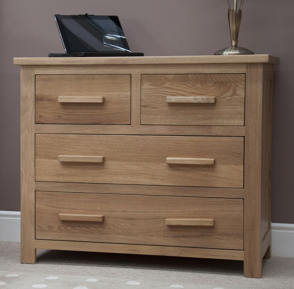 Windsor Solid Oak Furniture 2 Over 2 Bedroom Chest Of Drawers Ebay