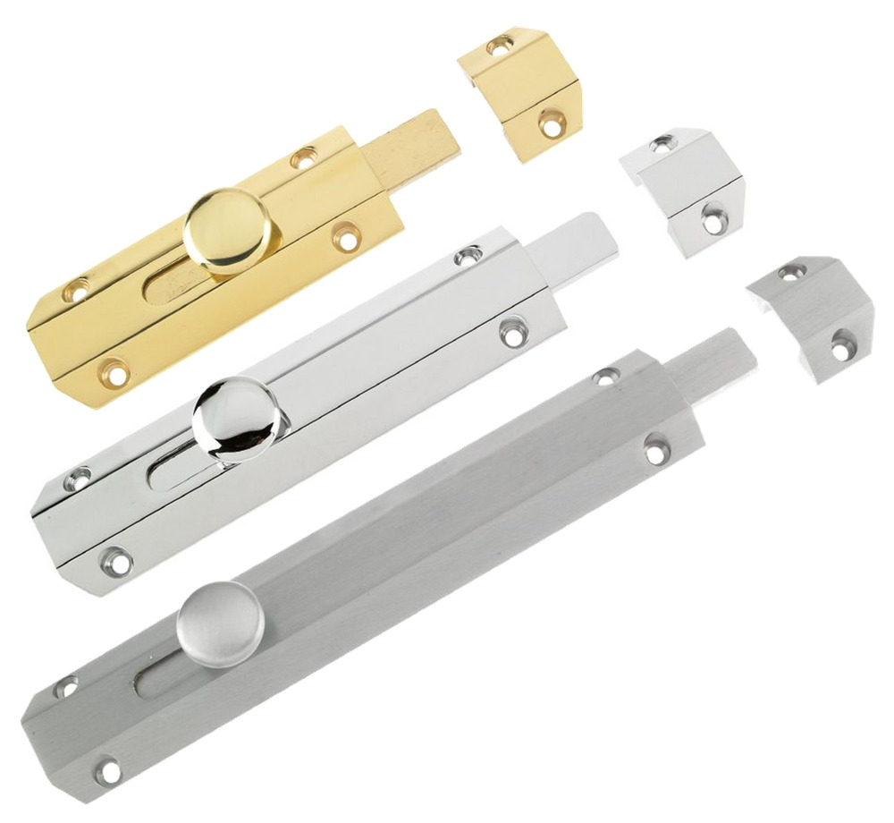 Surface sliding bolt door slide lock catch heavy duty for Surface lock