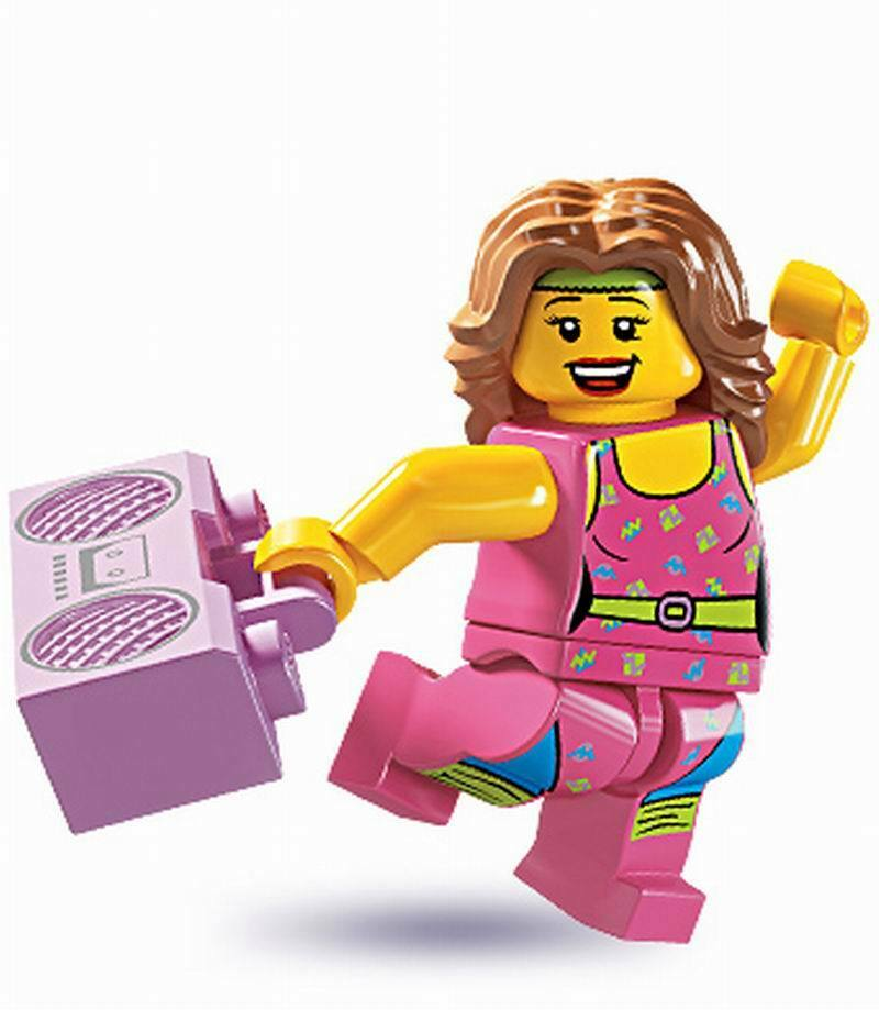 Lego Mini Figure #8805 FITNESS INSTRUCTOR Series 5