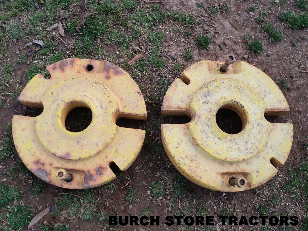 John Deere Rear Wheel Weights : Official john deere m back rear weights ebay