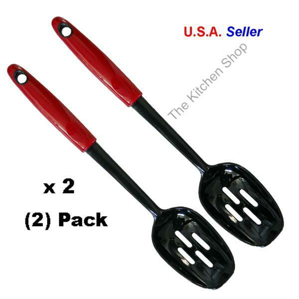 Nylon Slotted Spoon Red Kitchen Tools Gadgets Ebay