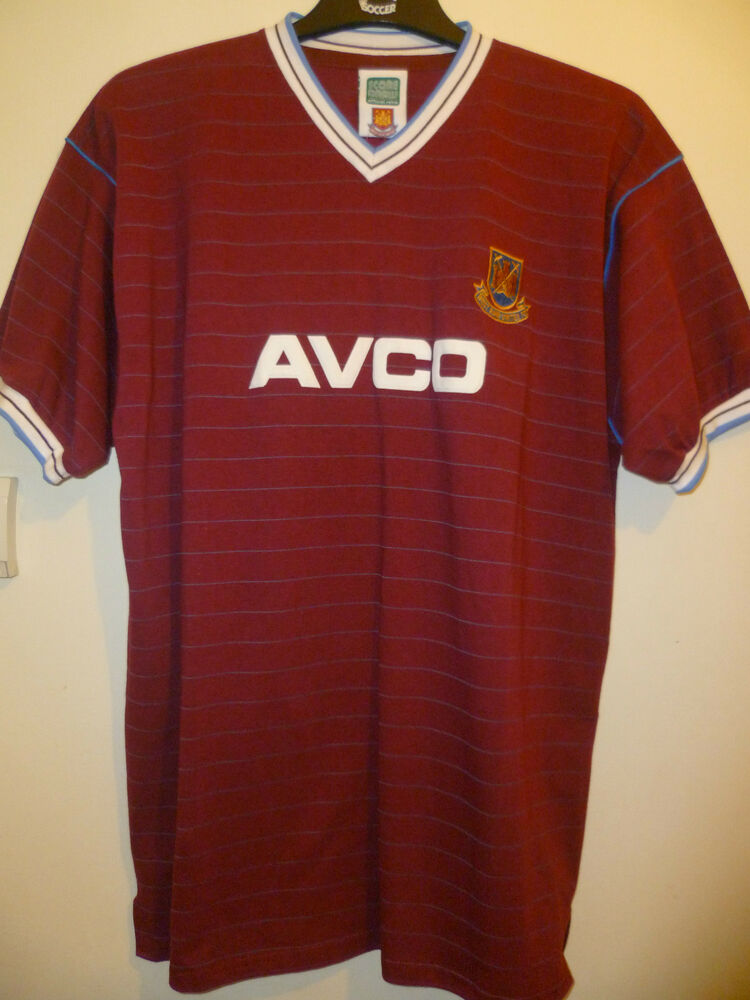 Bnwt West Ham United Home Retro Football Shirt 1986 Ebay