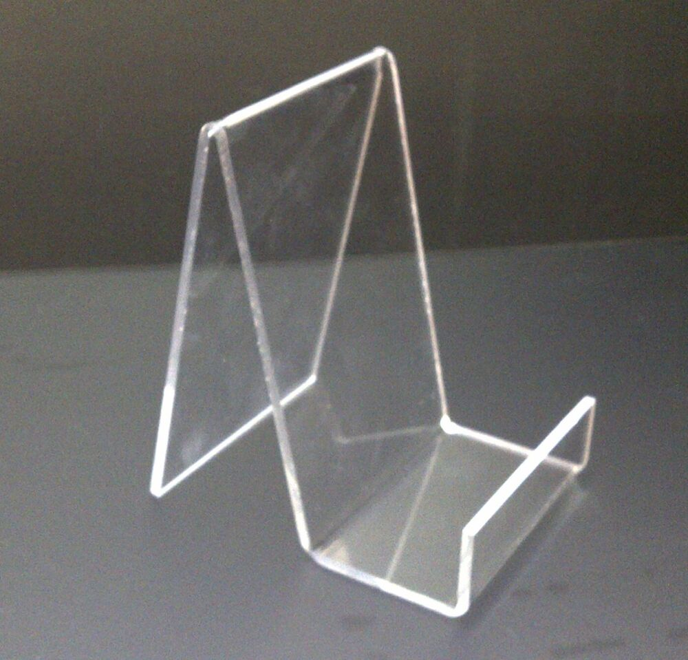 5 X Small Acrylic Book Stand Perspex Retail Display Stand