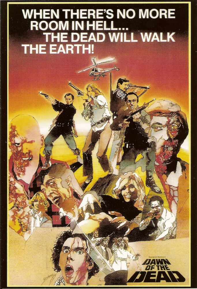 DAWN OF THE DEAD Movie Poster George Romero Zombies | eBay