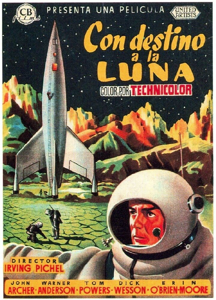 DESTINATION MOON Movie Poster 1950 Sci-Fi Apollo 13 | eBay