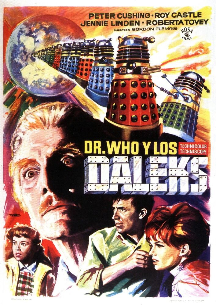 DR. WHO AND THE DALEKS Movie Poster 1965 | eBay