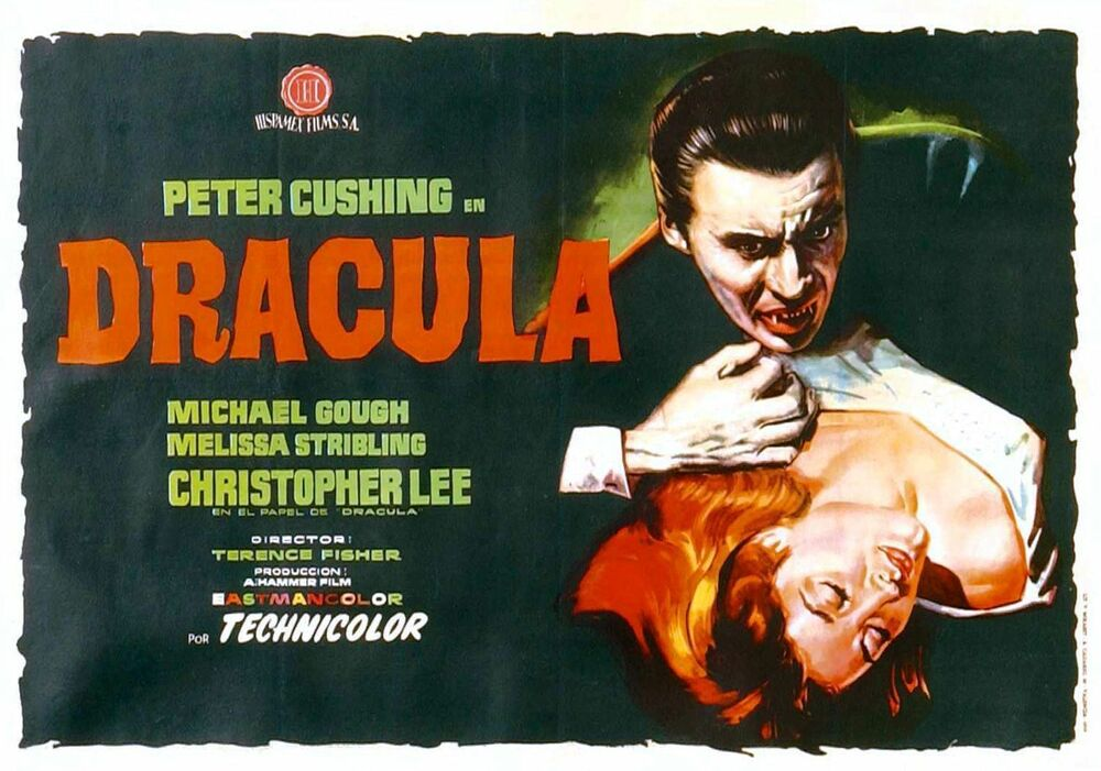 DRACULA Movie Poster 1958 Christopher Lee Vampires | eBay