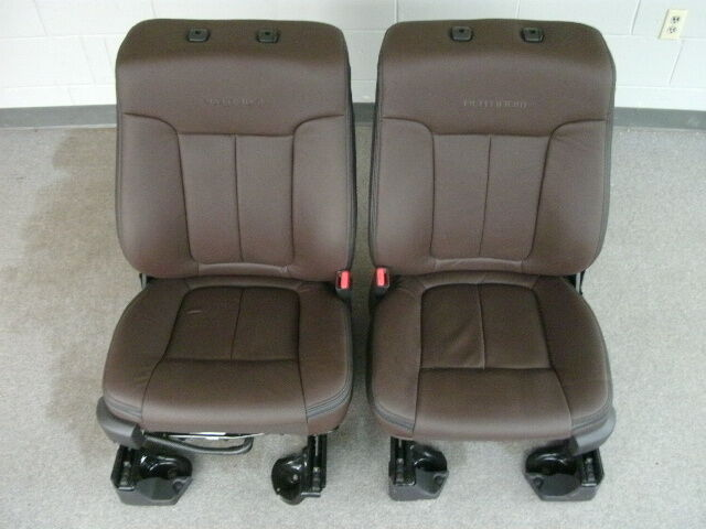 Ford F 150 Platinum Edition Brown Leather Front Seats