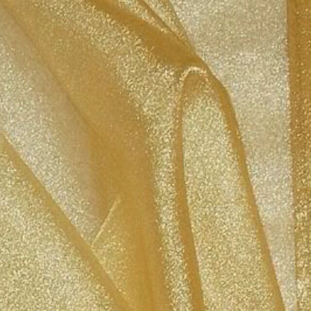 Gold sparkle organza fabric 60 5 yds ebay for Sheer fabric