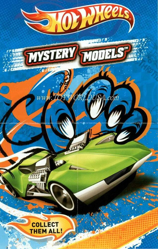 2012 hot wheels mystery car models check list mini poster. Black Bedroom Furniture Sets. Home Design Ideas