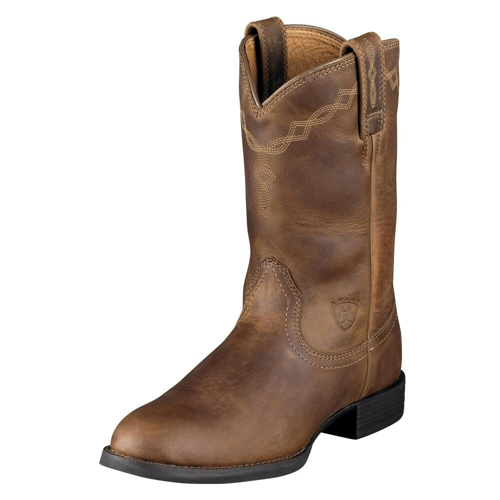 ariat heritage pull on roper womens cowboy boot distressed