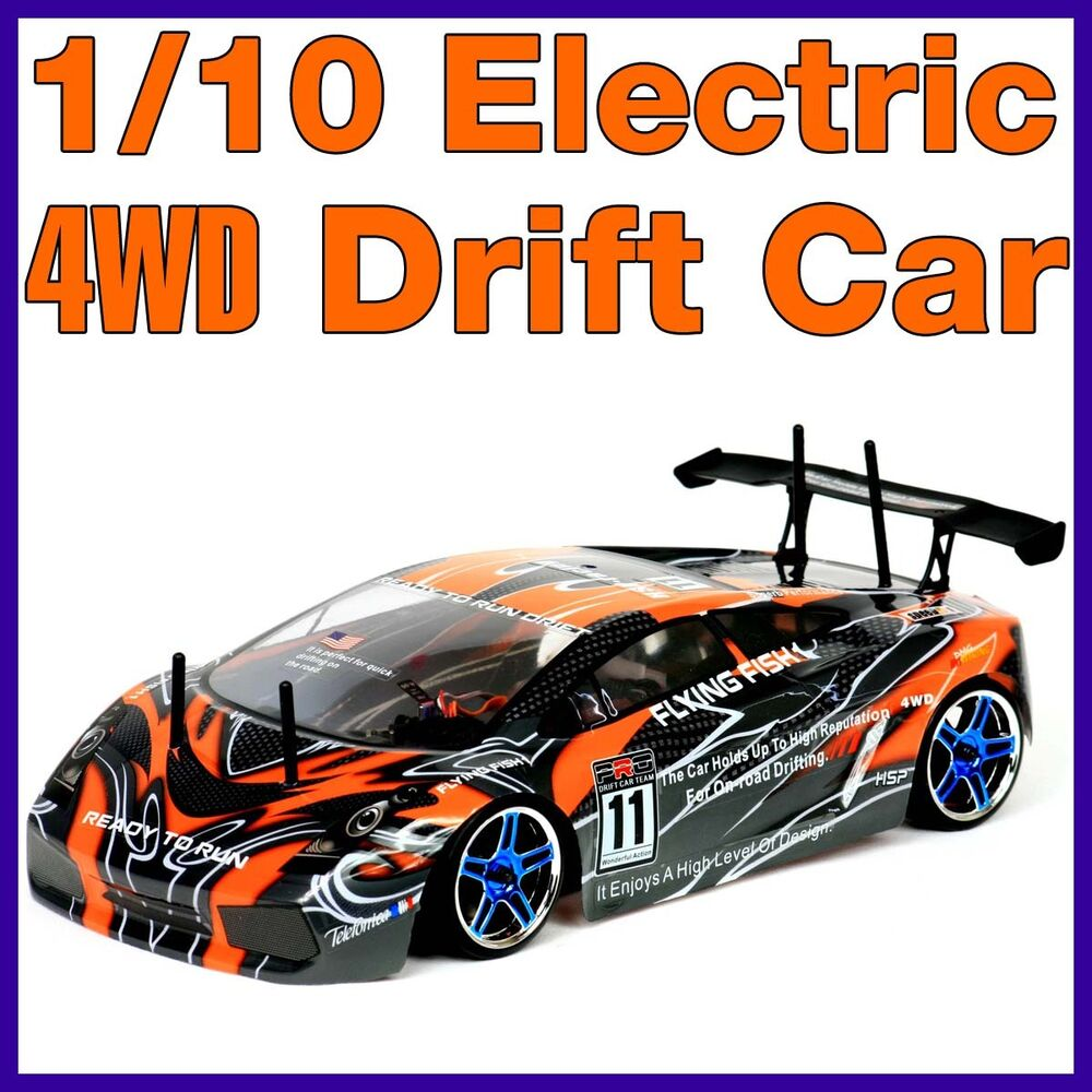 rc 1 10 drift car rtr electric remote 4wd battery powered hsp racing buggy 1 10 ebay. Black Bedroom Furniture Sets. Home Design Ideas