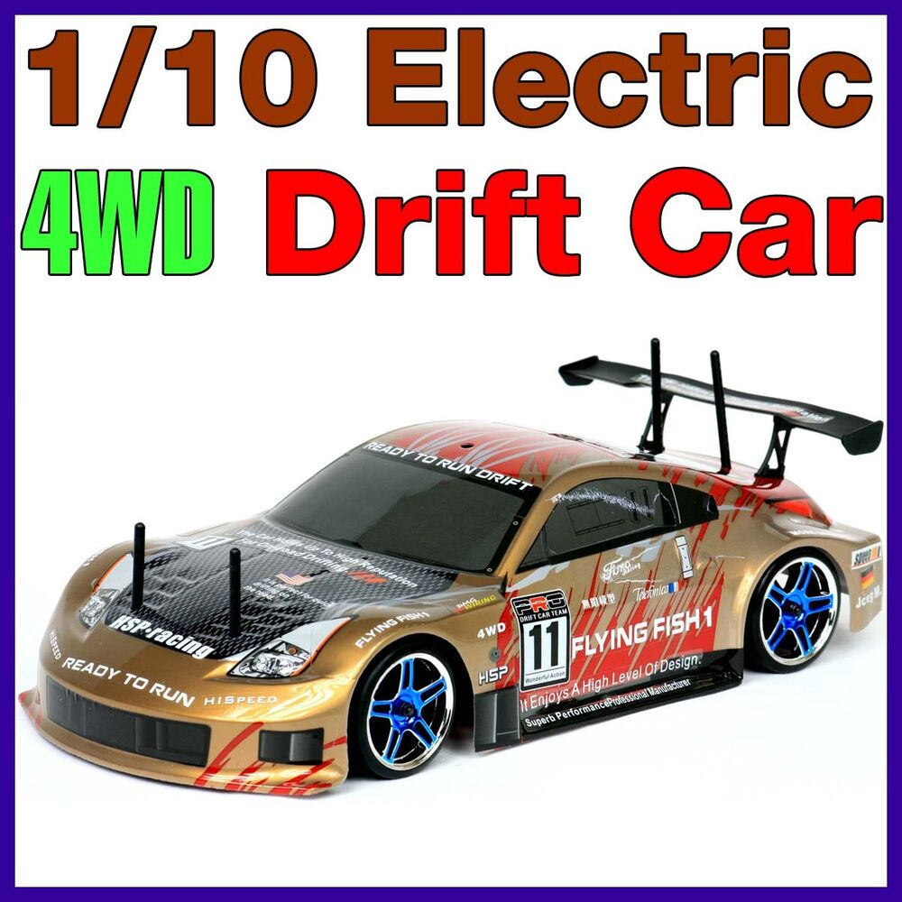 RC 1/10 DRIFT CAR RTR ELECTRIC REMOTE 4WD BATTERY POWERED