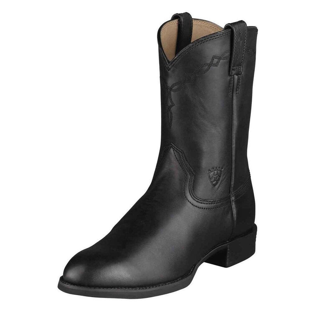 Ariat Mens Heritage Pull On Roper Cowboy Boot Black 10002280 35501 Ebay