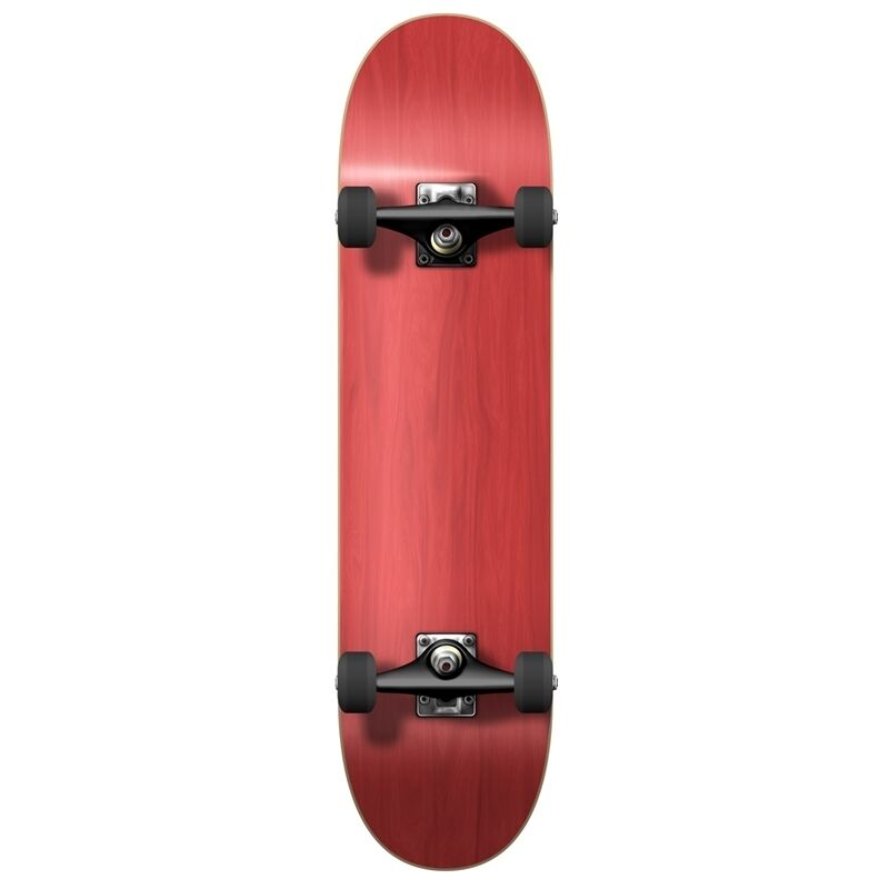"""Blank Complete Skateboard Stained RED 7.75"""" Skateboards"""