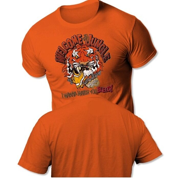 Cincinnati bengals welcome to the jungle tee shirt ebay for Vintage bengals t shirts