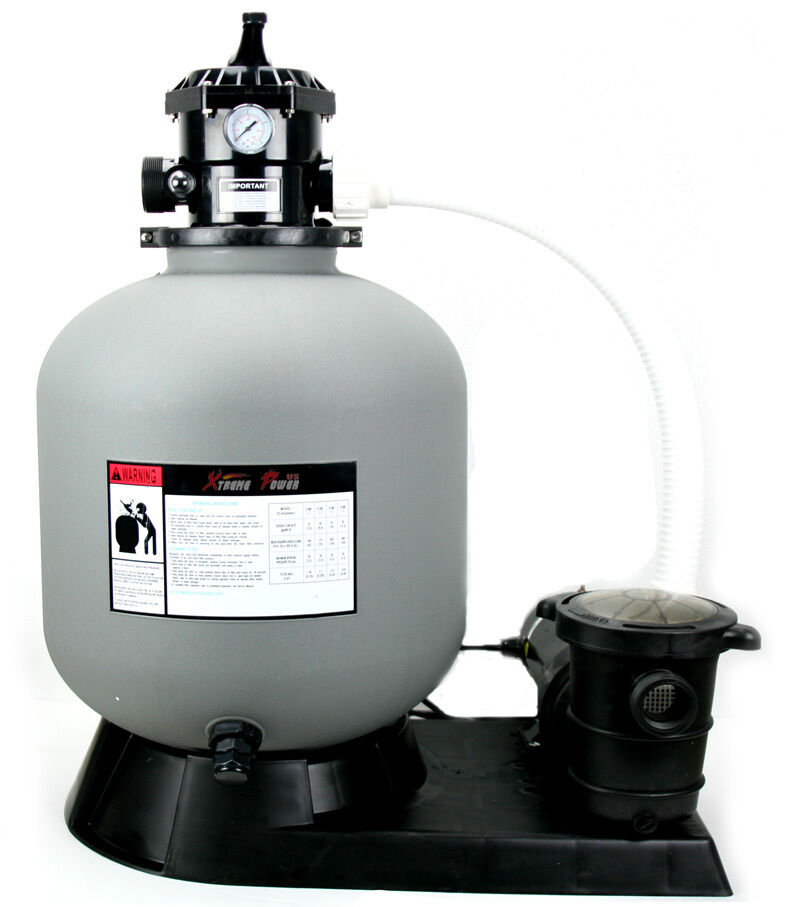 Pro 4500gph 19 sand filter w 1 5hp above ground swimming pool pump system ebay - Sandfilterpumpe fur pool ...