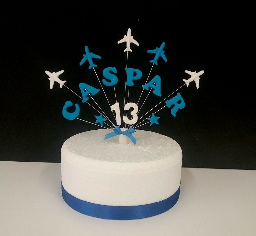 Aeroplane, plane Personalised Name, Age Birthday Cake ...