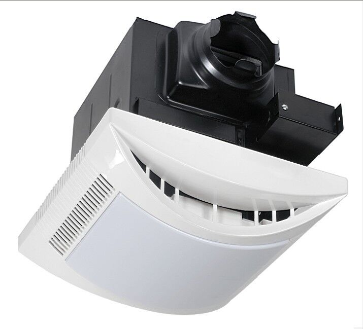 quiet bathroom exhaust fans with light 1 1 sones 110cfm bathroom exhaust fan amp light 25698