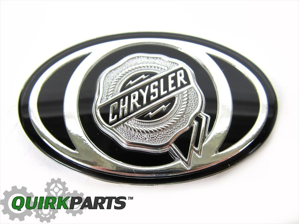 2005 2010 Chrysler 300 S Grille Emblem Decal Badge Silver