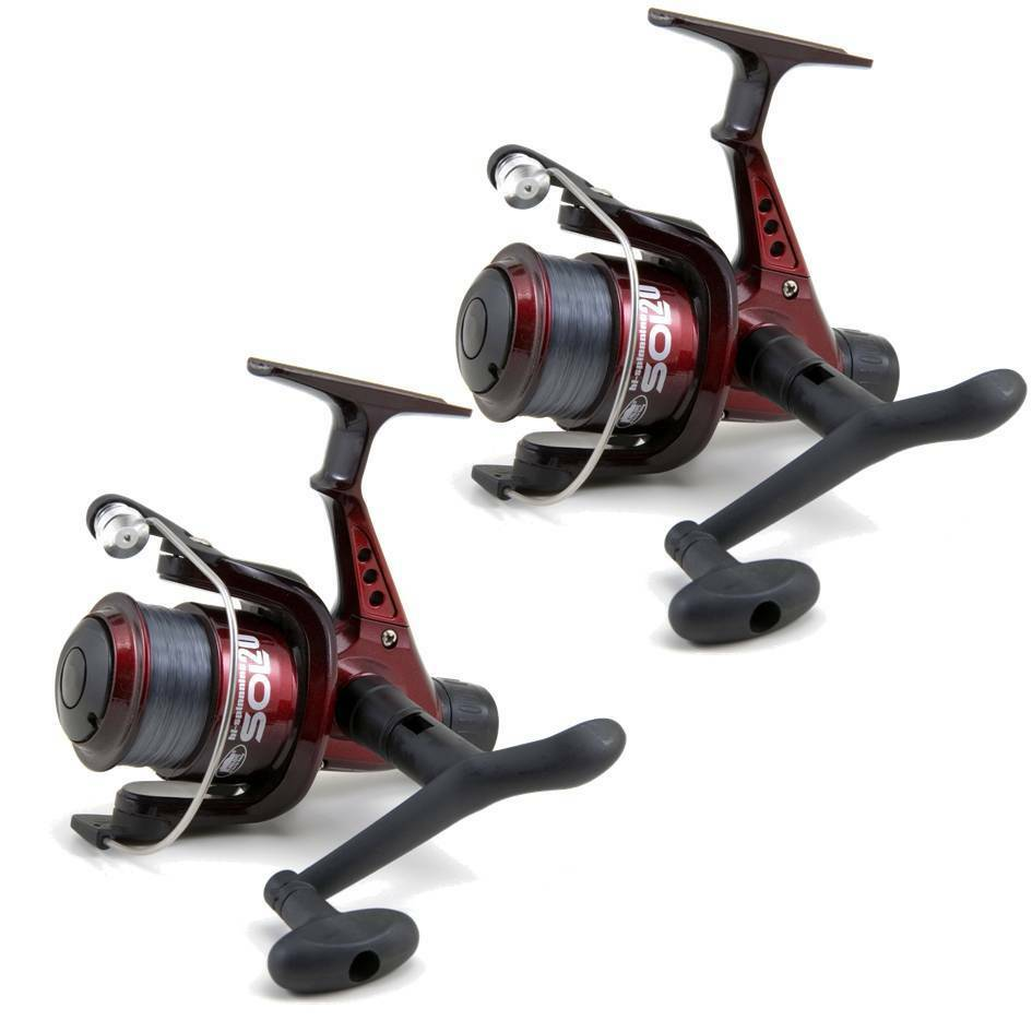 2 lineaeffe sol float spinning fishing reels with line red for Ebay fishing reels