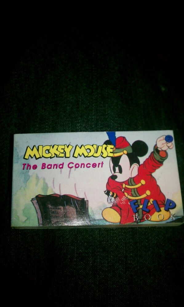 1993 Disney Mickey Mouse The Band Concert flip book | eBay