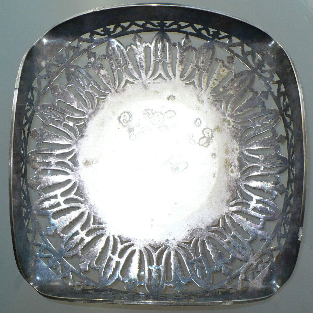 Antique Sheffield England Silverplate Platter Serving Tray
