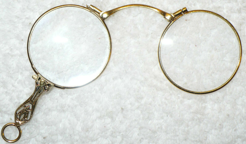 antique 14k gold lorgnettes eyeglasses glasses opera