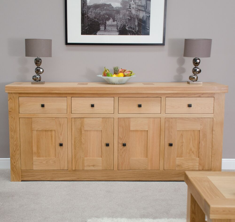 oak dining room furniture 4 door 4 drawer extra large sideboard ebay
