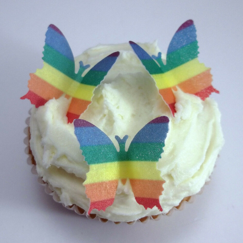 Rainbow Butterfly Cake Toppers