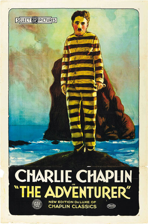 The Adventurer (1917) Charlie Chaplin movie poster print 3 ...