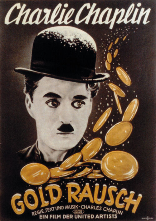The Gold Rush (1925) Charlie Chaplin movie poster print 2 ...