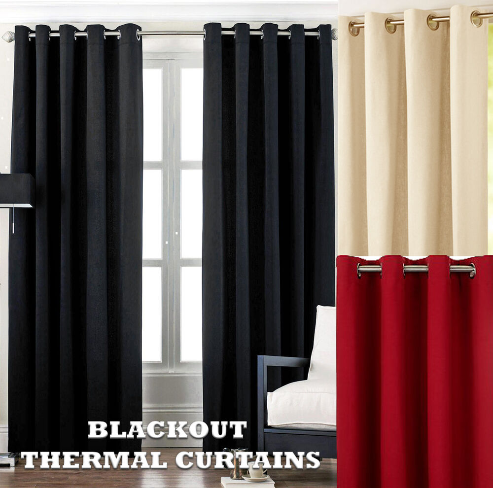 Thermal Blackout Eyelet Ring Top Curtains