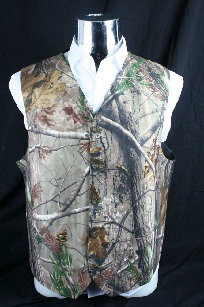 VSTEXTILE Camouflage Vests with Tie for Wedding Groom Wear Man camo Prom Vest. by VSTEXTILE. $ $ 54 HBDesign Mens 1 Piece 5 Button Real Tree Camo White Slim Fit V-Neck Vests. by HBDesign. $ - $ $ 31 $ 34 87 Prime. FREE Shipping on eligible orders. Some sizes/colors are Prime eligible.