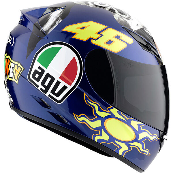 new agv k3 series valentino rossi 46 the donkey motorcycle helmet adult mens ebay. Black Bedroom Furniture Sets. Home Design Ideas