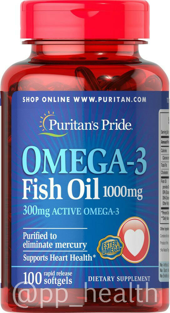 Puritan 39 s pride omega 3 fish oil 1000 mg contain 300 mg for What is omega 3 fish oil good for