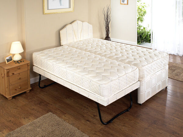 Single Bed With Pull Out Mattress Underneath